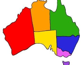 Rainbow States (Australia Map)