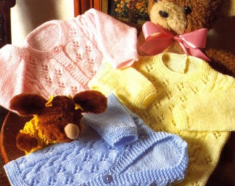 Baby Sweater and Cardigans, Knitted Pattern, Instant Download.