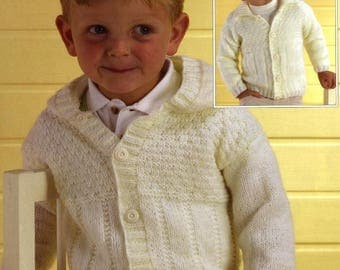 2 x Knitted Jackets, Hooded Jacket, Cardigan, Instant Download, Knitting Pattern.