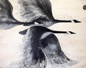 Custom Soul Painting, geese, spirit, animal, animal guide, power animal, painting, original, art, drawing, sacred, geometry