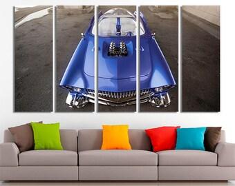 Ford, Ford beatnik, Futurism canvas, Ford photo, Ford print, Futurism art, Cars canvas, Cars wall art, Cars home decor, Canvas art, Canvas