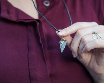 Shark Tooth Pendant | Shark Tooth Necklace Pendant with Silver Detail