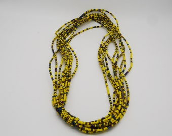 Multi-strand African Beaded necklace, fine bead necklace - African boho necklace, Ethnic, Tribal necklace,