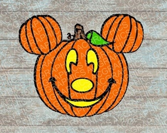 Mickey Mouse Pumpkin SVG, DXF, JPEG, and Studio Downloads