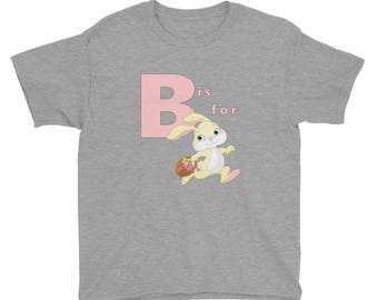B is for Bunny Youth Short Sleeve T-Shirt