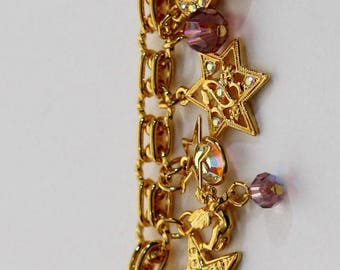 Kirks Folly Moon-Stars-Crystals Bracelet