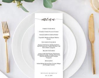 Menu Template, Printable Menu, Wedding Menu Cards, Wedding Menu, Editable Menu, Printable Menu Card, Menu Card Template, Reception Menu, Pdf