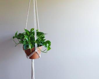 Vertical Hanging Planter: cord plant holder, hanging rope planter, natural plant hanger, hanging air plant holder, vertical planter