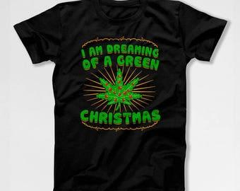 Funny Christmas T Shirt Weed Clothing Holiday Present Marijuana TShirt Xmas Gift Ideas Christmas Present Merry Xmas Mens Ladies Tee TEP-380