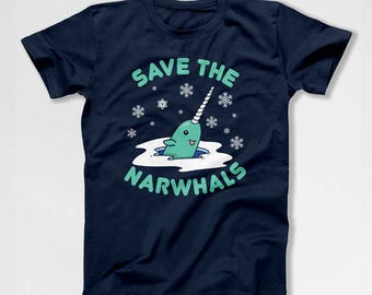 Funny Holiday Shirt Christmas Party Xmas T Shirt Narwhal TShirt Christmas Gift Ideas Holiday Present Xmas Outfit Mens Ladies Tee TEP-413