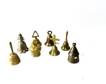 Lot of Medium Sized Brass Bells