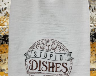 Embroidered Flour Sack Towels
