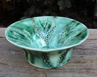 Decorative Green Ceramic Bowl