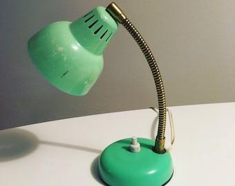 Vintage mini desk lamp made of plastic