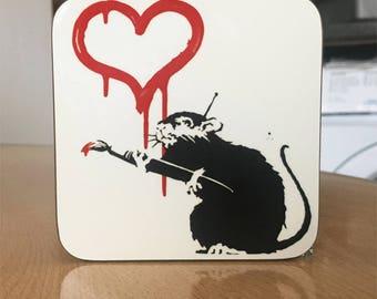 Banksy Coaster #26 - Banksy Gift - Banksy Coaster - Custom Coaster -Gift for Her - Gift For Him - Fridge Magnets - Banksy Magnet - Souvenir