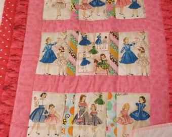 Baby Girl Handmade Quilt, McCall Pattern Fabric