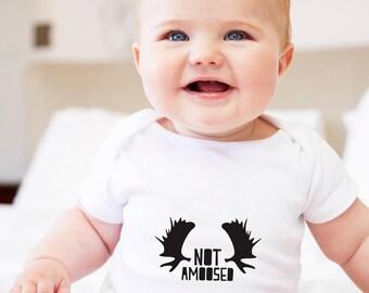 moose baby gift, moose gifts, moose antlers design, not amoosed