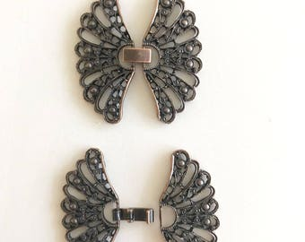 Metal Butterfly Closure-Bronze Color