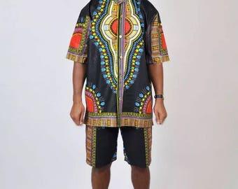 African modern Dashiki Shirt & Shorts