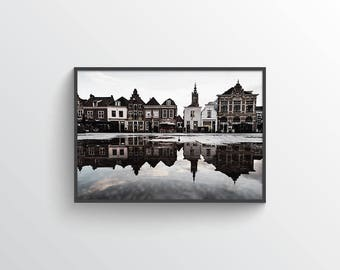 Amersfoot - Digital Print - Printable Art - Vintage - Town - Architecture - Europe - Netherlands - Modern - Minimal - Scenery - City