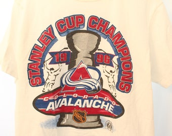 Vintage 1996 Starter Colorado Avalanche Stanley Cup Champions Tee - M