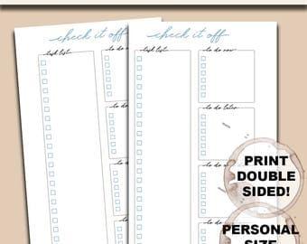 Minimal To Do List Printable (Personal-Sized)