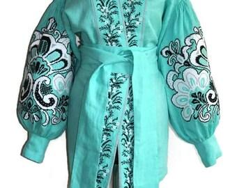 Vyshyvanka Boho Ukrainian Clothing Gift Bohemian Blouse Vishivanka Ethnic Style Custom Boho Clothing Mexican Embroidery Ethnic Folk Blouses