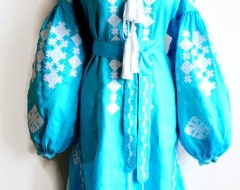 Bohemian Clothing Vishivanka Vyshyvanka Dress Ukrainian Dresses Ukrainian Embroidery Embroidered Dresses Boho Clothing Fashion Ukraine