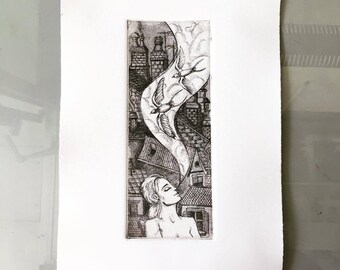 "Intaglio Print ""The Good Dream"""