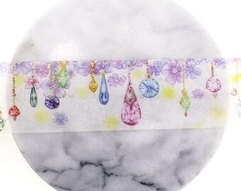Crystal Washi Tape,Pendant Washi Tape,Japanese Washi Tape,Deco tape,