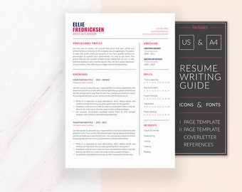 Professional Resume Template Design | Resume Template for Word | CV Template + Cover Letter & References | Modern Resume | Instant Download