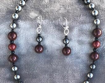 Swarovski Beads in Black, Grays and Browns