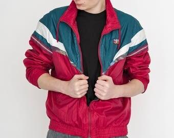 VINTAGE Red RUKKA Lightweight Shell Retro Jacket