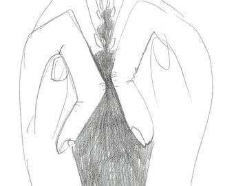 Luigi de Simone - original pencil artwork scan A4 - wall art