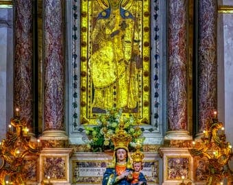 ProLife II (Pregnancy Aid) Exclusive Museum Fine Art Prints - Privileged Altar - Church of Our Lady of the Assumption Positano