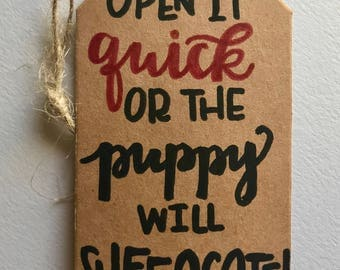Snarky Puppy Hand Lettered Christmas Gift Tag