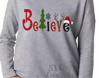 Believe SVG, Believe Christmas SVG, Christmas SVG