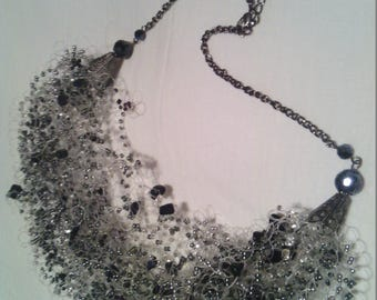 Quartz cloud necklace