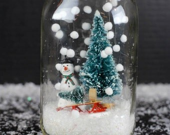 Cute Mason Jar Snowglobe