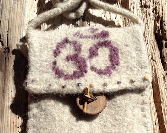 Felted Wool Namaste Yoga Purse