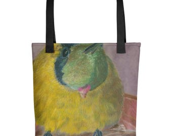 Yellow Bird - Amazingly beautiful full color tote bag with black handle featuring children's donated artwork.