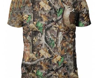 T-shirt 3d short sleeve hunting-Realtree Camo