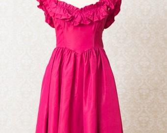Jessica McClintock Gunne Sax Magenta Dress