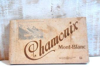 detachable postcards Chamonix France 1900 book