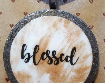 blessed - Christian Inspirational Necklace - FREE SHIPPING