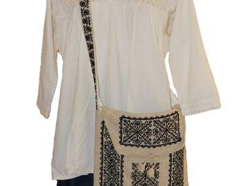 Unisex wool bag, Messenger bag, Haversack bag, Shoulder bag, Crossbody bag, Crossbody back,  Wool purse, Embroidery Bag, Mexican bag, gift