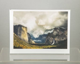 Yosemite Valley under clouds, Yosemite National Park - Greeting Card