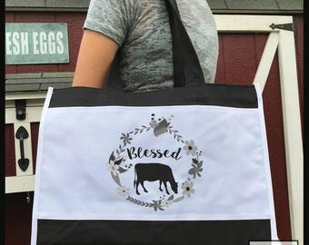 Blessed Cow Market Bag
