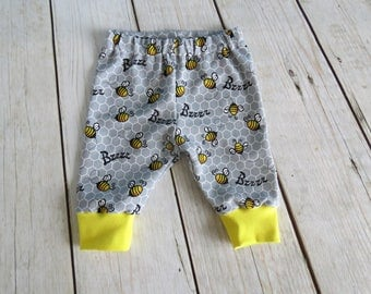Handmade Casual Pants Baby Trousers Kids Boys Girls Toddler Bee