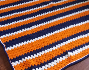 Denver Broncos Inspired Throw